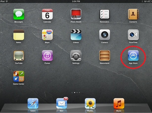 iPad or iPhone Home Screen