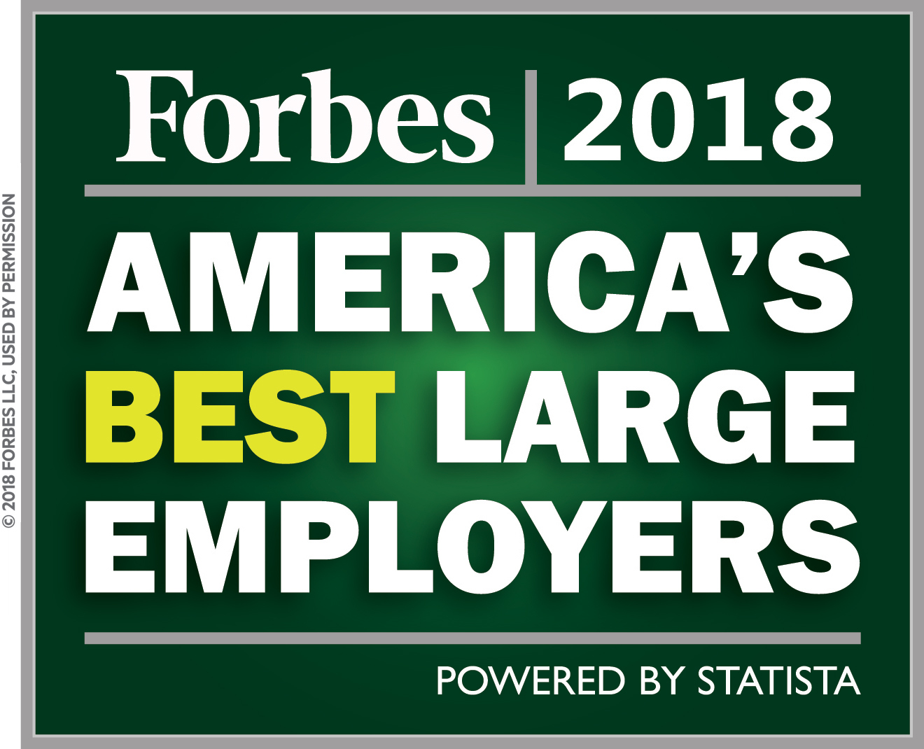 Forbes 2018 Award for America's Best Large Employers