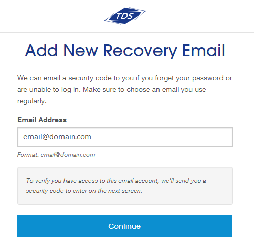Add new recovery email Screenshot