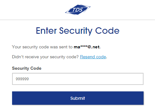 Enter security code Screenshot