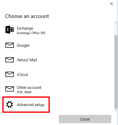 Configuring Account | Windows 10 Mail App | TDS